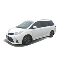 豐田塞納2020款四驅LE新車MPV平行進口車 白色