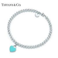 Tiffany&Co. 蒂芙尼 Return系列 蓝色珐琅心形吊坠手链