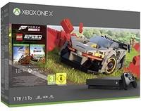 中亞Prime會員 :  Microsoft 微軟 Xbox One X 游戲主機+《地平線4》+《樂高競速》