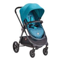 好孩子官方gb雙向避震可坐躺寶寶手推車兒童輕便折疊高景觀嬰兒推車gb105/gb101 藍綠 GB101-Q319BG