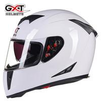 GXT摩托車頭盔男女全盔覆式冬季電動車雙鏡片四季藍牙機車安全帽358 (配透明防霧片) 2XL