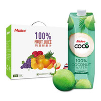 瑪麗(Malee Coco)泰國原裝進口 NFC天然無添加原味椰子水飲料椰汁果汁瓶裝 1L*4整箱
