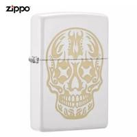 Zippo 之寶 29922-072412 火影骷髏白啞漆彩印 煤油防風火機