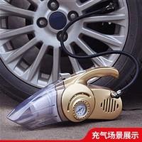 麥車飾 車載充氣泵汽車打氣泵車用輪胎加氣泵打氣筒便攜式電動多功能沖氣泵車胎 金色 *2件