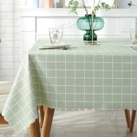 桌布防水防油免洗pvc餐桌墊書桌ins學生北歐長方形家用茶幾布布藝