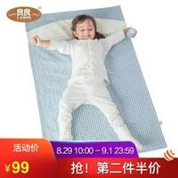 良良(liangliang) 嬰兒隔尿墊 麻棉吸濕寶寶尿墊(可當嬰兒床床單用110*72cm) 藍色 *2件