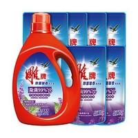 雕牌 除菌馨香洗衣液 1kg+补充液 500g*6袋