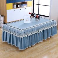 茶幾桌布客廳茶幾罩套長方形布藝蕾絲歐式蓋布家用防塵罩電視柜罩+湊單品