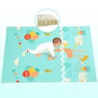 智宣 新品XPE爬行墊 寶寶爬爬墊拼接拼圖加厚嬰兒爬行毯防滑游戲玩具泡沫地墊子瑜伽墊 60*60*2cm(雙面6片裝)+湊單品