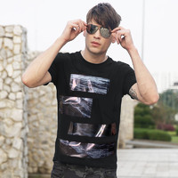 Discovery戶外春夏新品男式短袖棉感透氣T恤手感柔軟DAJF81901 *3件