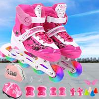 男童女滑冰鞋初學者輪滑鞋可調大小