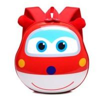 派瑞帝1-3-6歲迷你幼兒園3D立體硬蛋殼雙肩兒童背包小愛款背包B124D-HB 紅色