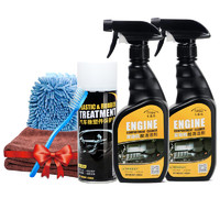 CARjay/卡嘉易 發動機艙清潔劑 500ml  送洗車手套+毛巾+刷子