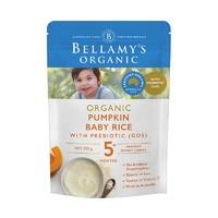 BELLAMY'S 貝拉米 有機嬰兒南瓜益生元米粉 125克/袋
