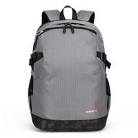 第九城V.NINE 雙肩包男士大容量電腦包15.6英寸旅行背包迷彩風休閑學生書包 VD9BV33943J 淺灰 *2件