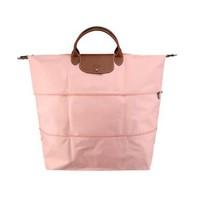 LONGCHAMP 瓏驤 女款Le Pliage系列粉色織物大號短柄可折疊手提單肩包 1911 089 A26