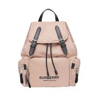 BURBERRY 博柏利 女士Logo印花抽繩雙肩包 中號