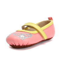 費兒的王子 寶寶公主鞋子女春  新款牛皮軟底防滑步前鞋 *3件