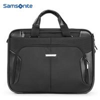 Samsonite/新秀麗手提電腦包商務男士電腦內膽包公文包新品單肩斜挎可掛套 15.6英寸