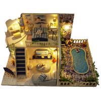 佳特 diy小屋 圣托里尼島 創意禮物益智玩具