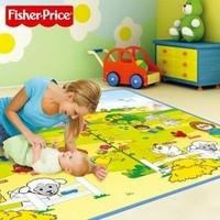 Fisher-Price 费雪 BMF22 小小探索家/趣味数字 双面包边地垫