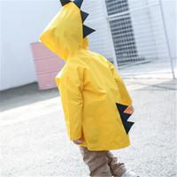 笛央 小恐龍雨衣兒童 黃色 S