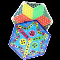 路獅 彈珠跳棋+飛行棋 二合一版 送6顆備用棋