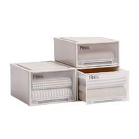 tenma天馬株式會社進口面寬44cm抽屜式收納箱塑料衣柜收納盒3個裝