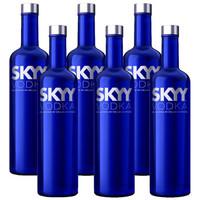 美國進口洋酒SKYY深藍伏特加原味 藍天伏特加 750ml*6  六瓶裝