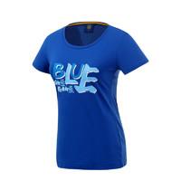 蘇寧足球俱樂部棉質休閑新品短袖字母印花圖案文化衫女士T恤