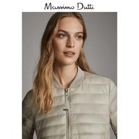 Massimo Dutti 06723601710 金屬感線絎縫女士外套