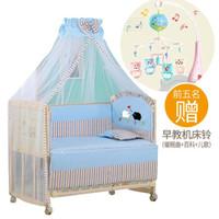 鈺貝樂嬰兒寶寶床 實木無漆新生幼兒多功能拼接BB搖搖床