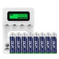 德力普充電電池5號大容量套裝通用充電器七號代替1.5v可充7號五號