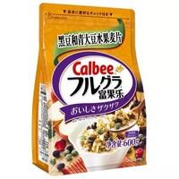 京東PLUS會員 : Calbee 卡樂比 水果麥片 黑豆風味 600g *5件