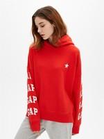 限尺碼:Gap 蓋璞 女裝  蔡依林明星同款Gap徽標毛圈布套頭連帽衛衣