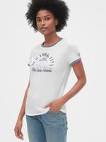 Gap 蓋璞 女裝 棉質舒適圓領短袖T恤