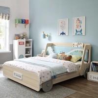 1日0點 : 林氏木業 EQ1A 兒童房卡通汽車床 1.2米