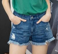 Lagogo 拉谷谷 HCNN137Q64 女士牛仔短裤