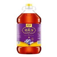 索米亞 濃香胡麻油 傳統小磨壓榨亞麻籽油 食用月子油5L *2件