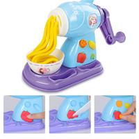 迪士尼冰雪奇緣彩泥橡皮泥套裝輕粘土3d模具工具兒童玩具冰淇淋機小女孩