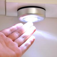 墻壁燈櫥柜燈尾箱燈便攜觸摸家用小夜燈 廚房居家LED觸摸燈拍拍燈應急燈小夜燈 1個 *3件