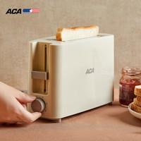 北美電器(ACA)烤面包機多功能多士爐6檔烘烤不銹鋼吐司加熱機三明治機早餐機AT-P045A