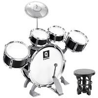 俏娃寶貝 兒童架子鼓玩具 5鼓1镲組合黑色