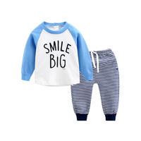 ciciibear齊齊熊 0-4歲男女寶寶圓領長袖T恤加藍色條紋套裝 *3件