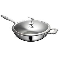 芙太太不銹鋼不粘鍋炒鍋家用無涂層油煙電磁爐燃氣灶多功能炒菜鍋