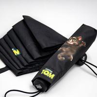 會說話的湯姆貓 黑膠遮陽傘 折疊太陽傘 男女防曬防紫外線 晴雨傘 *2件