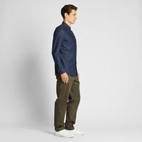 男裝 牛仔襯衫(水洗產品)(長袖) 419016 優衣庫UNIQLO