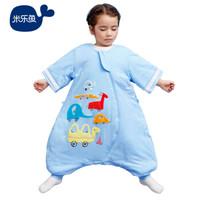 米樂魚 嬰兒睡袋兒童秋冬防踢抱被睡袋夾棉多彩車80*52cm