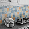 廚房防油貼紙柜灶臺用耐高溫自粘壁紙墻貼防水油煙加厚墻紙瓷磚貼