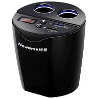 1日0點 : Newsmy 紐曼 車載充電器 雙usb點煙器一拖二